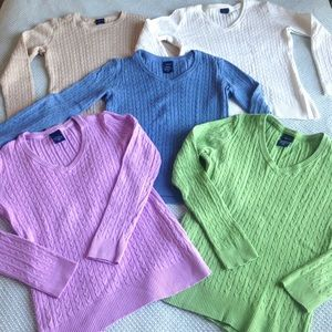 🧶Lot of 5 Cable Knit Sweaters